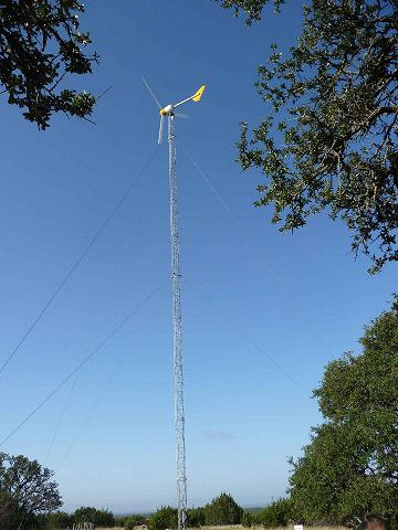 skystream wind turbine texas ranch