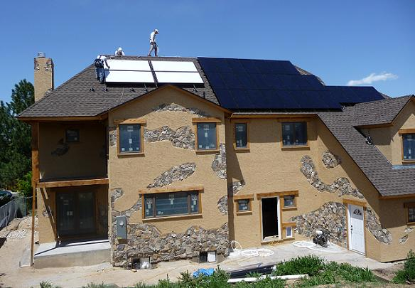 South facing view of Energy Environmental's Platinum LEED home